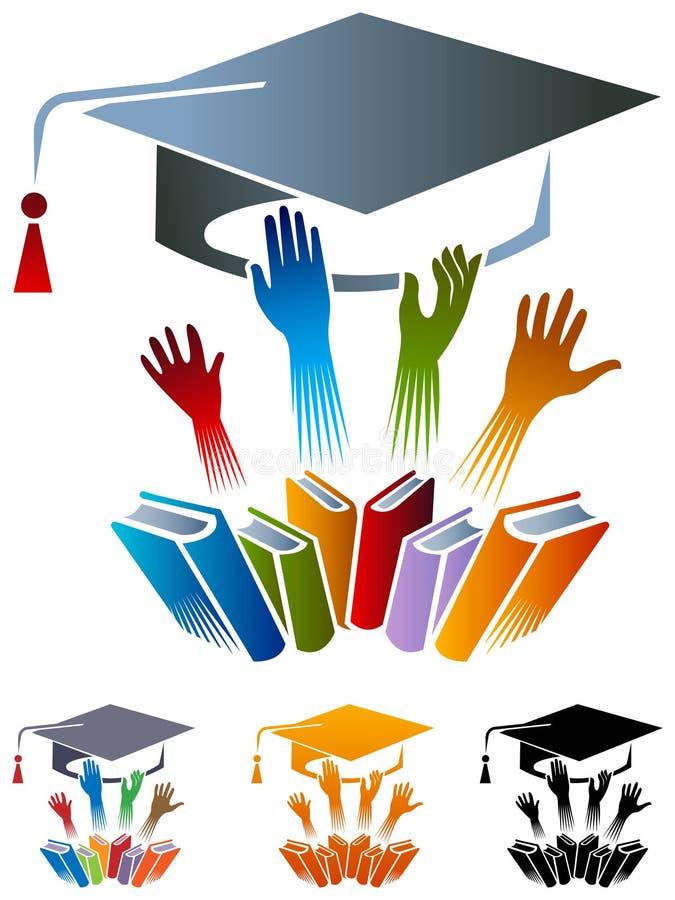 akademisk logo royaltyfri illustrationer