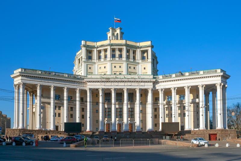 Akademisk teater för central Moskva av den sovjetiska armén arkivfoto