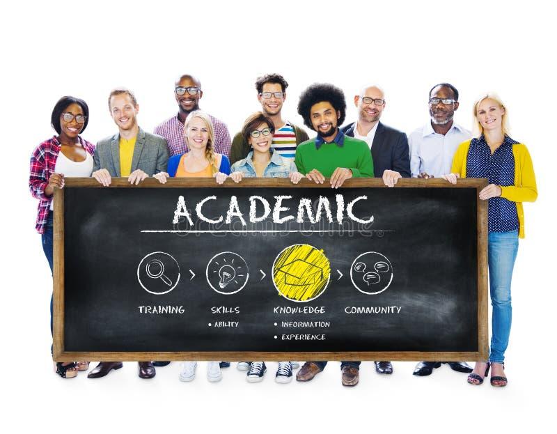 Akademiskt begrepp för utbildning för skolahögskolauniversitet arkivfoton