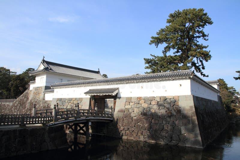 Akagane-Tor und Sumiyoshi-Brücke von Odawara ziehen sich zurück lizenzfreie stockfotos