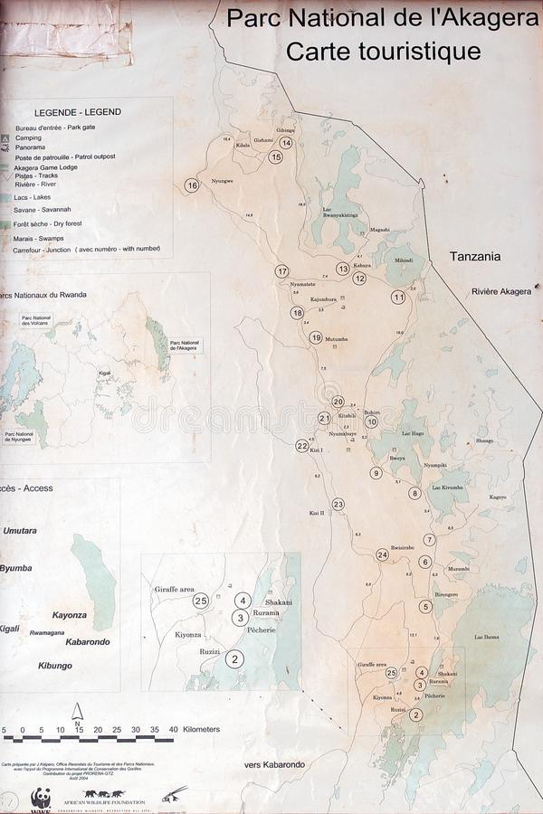 Download Akagera National Park map editorial stock photo. Image of wildlife - 19776058