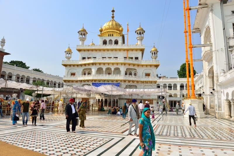 Akal Takht en el templo de oro, Amritsar fotos de archivo