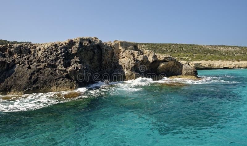 Akamas wybrzeże zdjęcie royalty free
