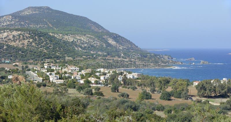 Akamas wzgórza & wybrzeże zdjęcie royalty free