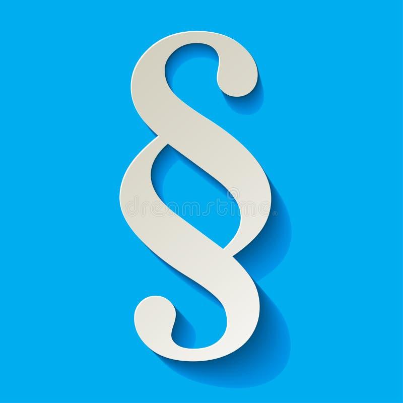 Akapita biały symbol na błękitnym tle ilustracji