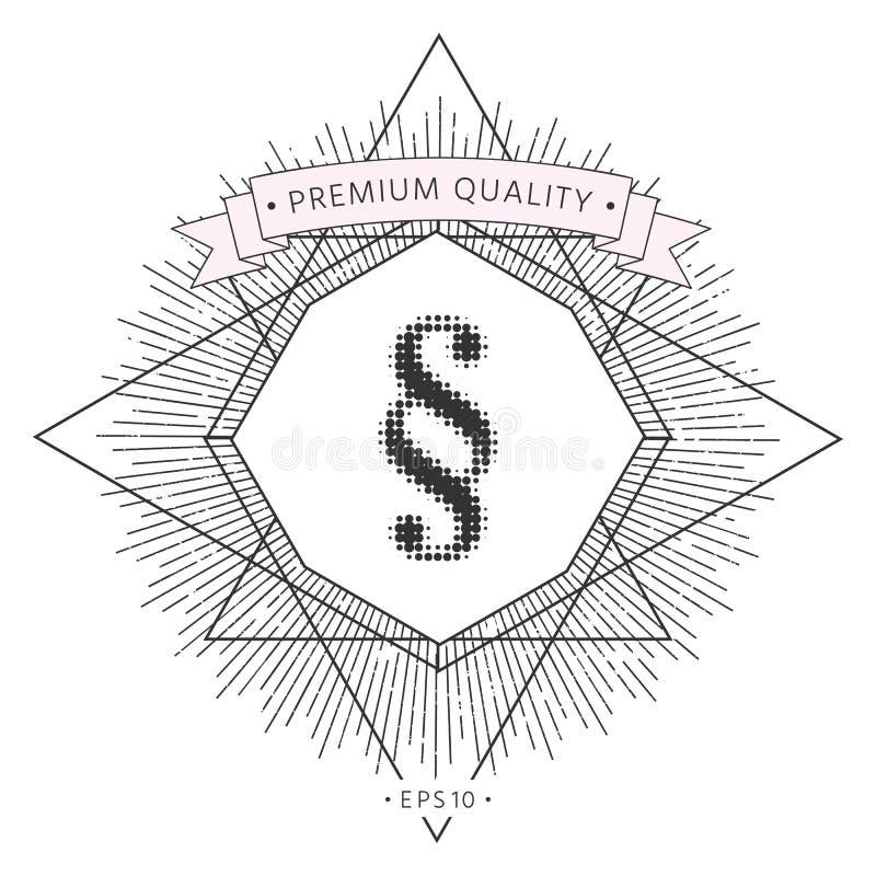 Akapita halftone logo ilustracji