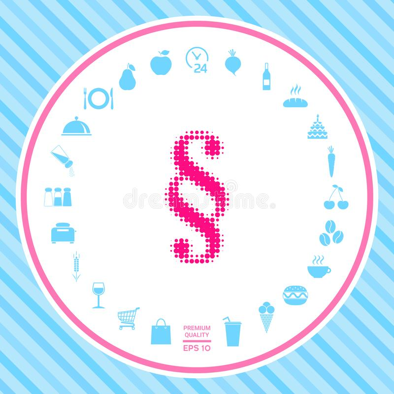 Akapita halftone logo royalty ilustracja