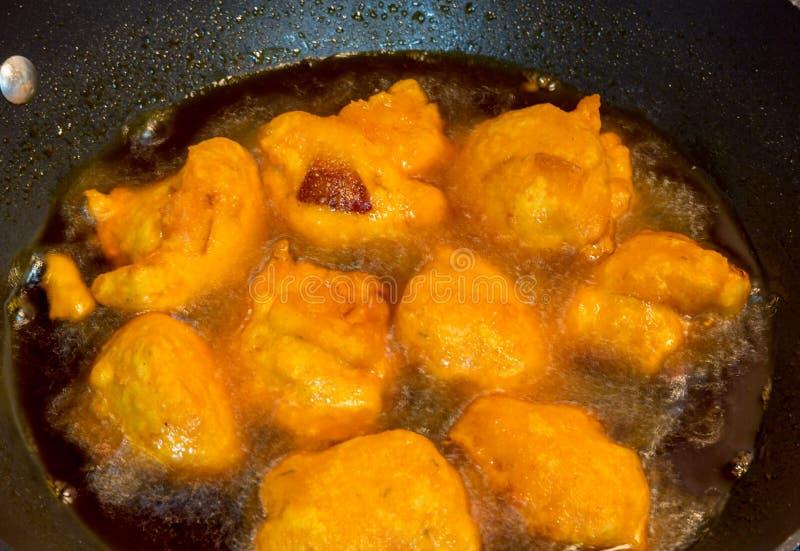 Akara smaży w oleju; popularny jedzenie w Nigeria zdjęcia royalty free