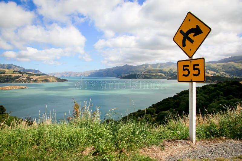 Akaroa Franse Baai dichtbij Christchurch Nieuw Zeeland royalty-vrije stock fotografie