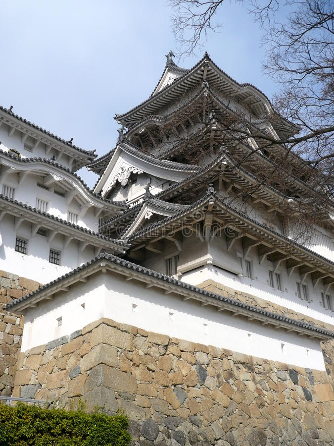 Akashi, Hyogo Prefecture, Kobe, Japan. The Akashi castle, west of Kobe was constructed by Ogasawara Tadazane as his own castle from 1617 to 1618 royalty free stock photography