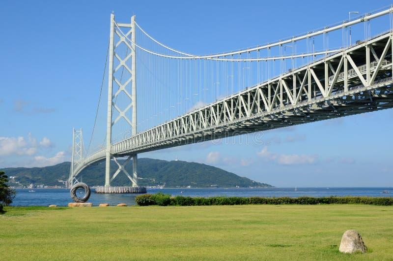 Akashi Kaikyo Bridge royalty free stock photos