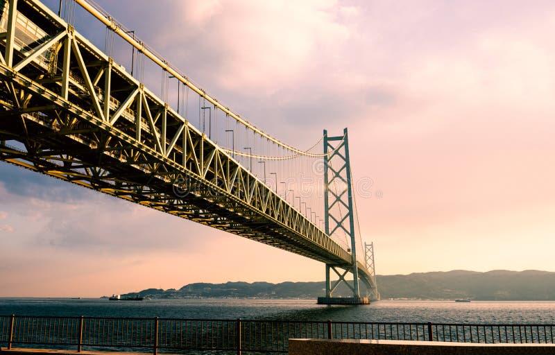 Akashi Kaikyo most w Kobe, Japonia fotografia stock