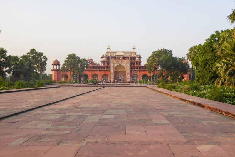 Akbar Tomb in Sikandra, near Agra, Uttar Pradesh state, northern India. Akbar Tomb in Sikandra, near Agra, Uttar Pradesh state, northern India, Asia royalty free stock image