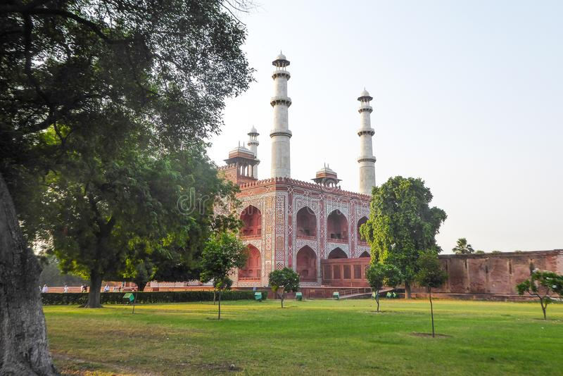 Akbar Tomb in Sikandra, near Agra, Uttar Pradesh state, northern India. Asia stock photography