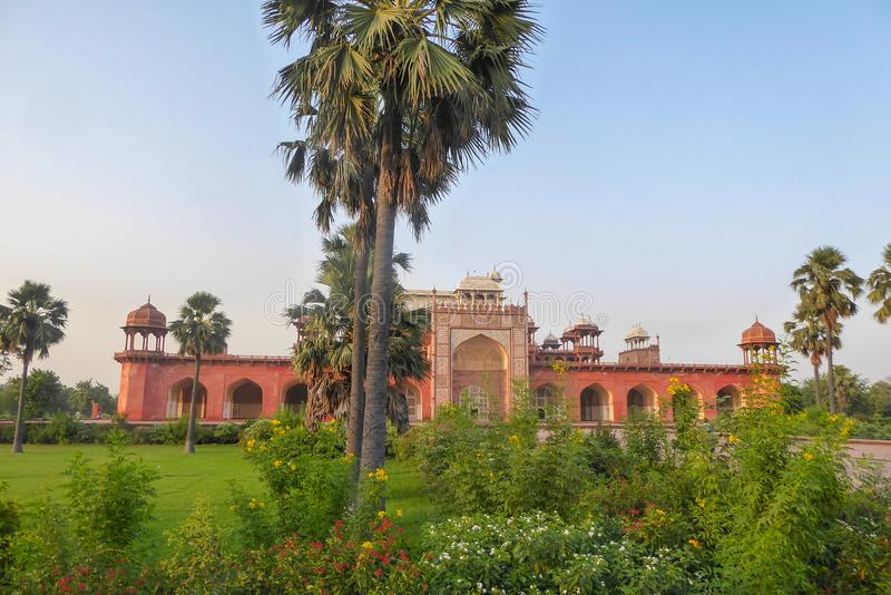 Akbar Tomb in Sikandra, near Agra, Uttar Pradesh state, northern India. Asia royalty free stock photos