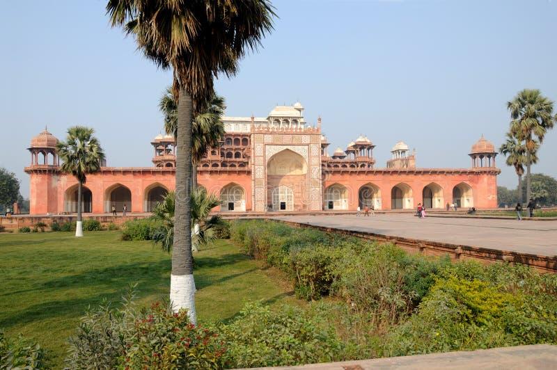 Akbars mausoleum stock photography