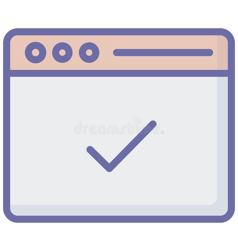 Akceptujący wektor odnosić sie przeglądarek internetowych okno i w pełni editable royalty ilustracja