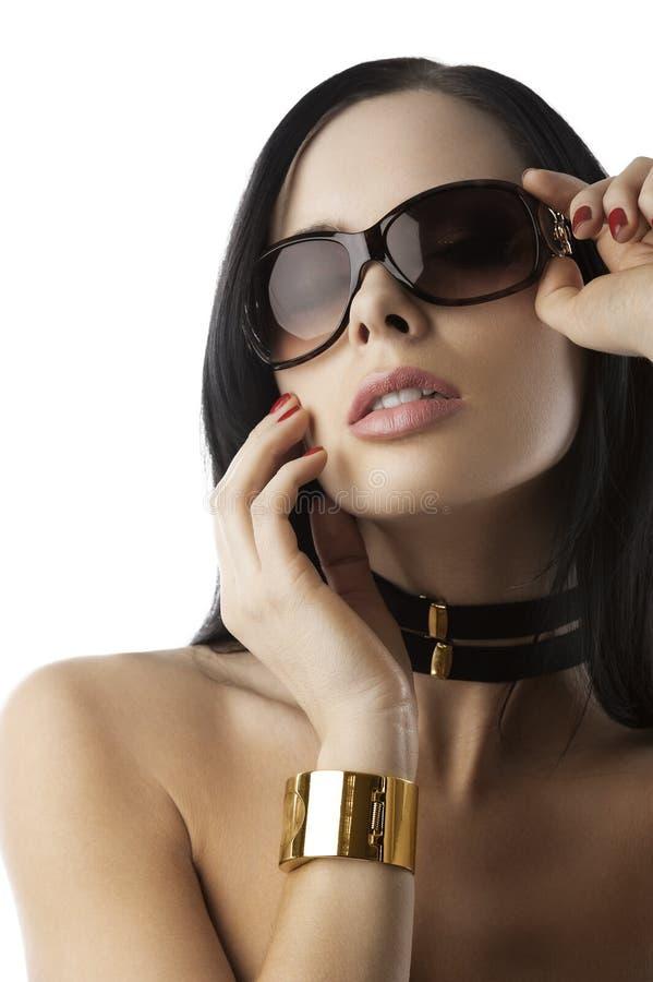 akcesoria fasonują złotej kobiety obrazy stock
