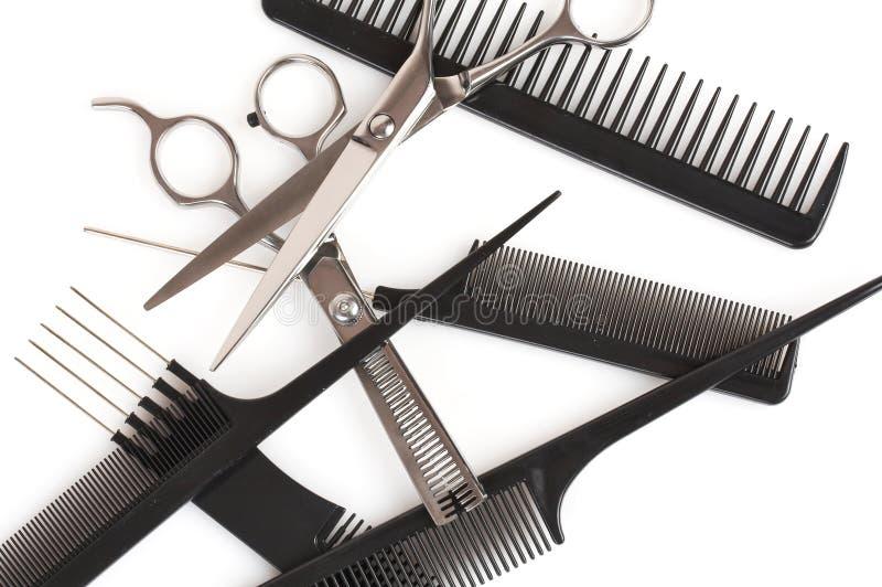 akcesoria grzebień fryzury nożyczki odłogowania zdjęcia stock