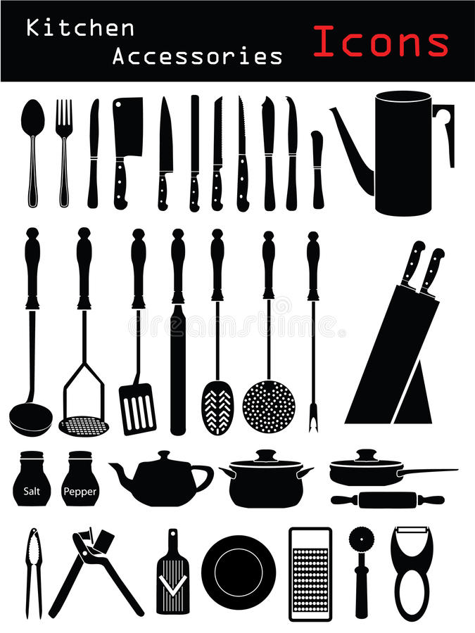 akcesoria kuchenni royalty ilustracja