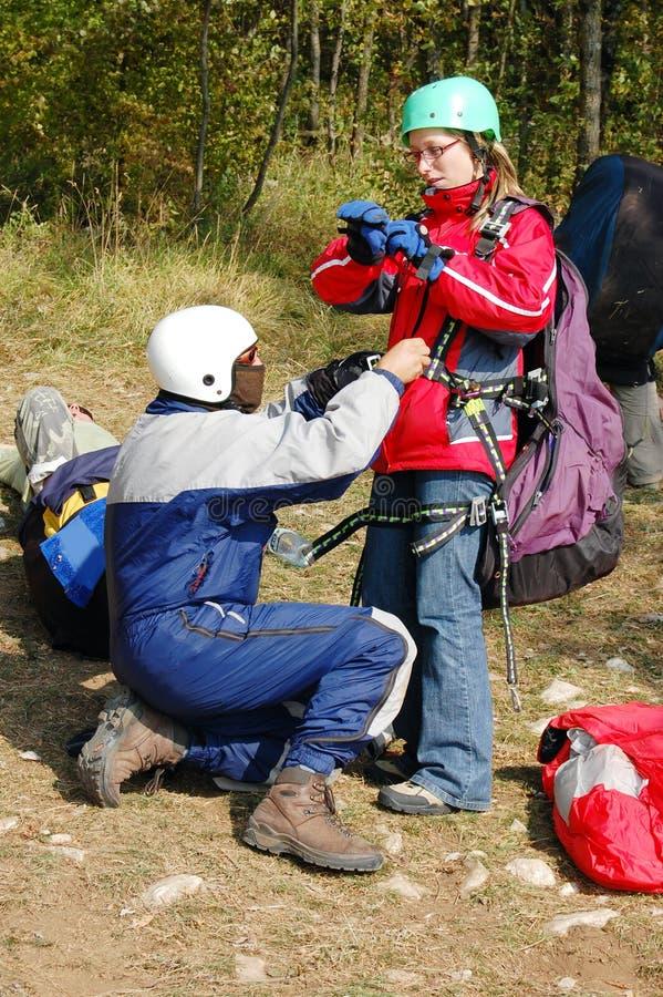 akcesoria paragliding fotografia stock