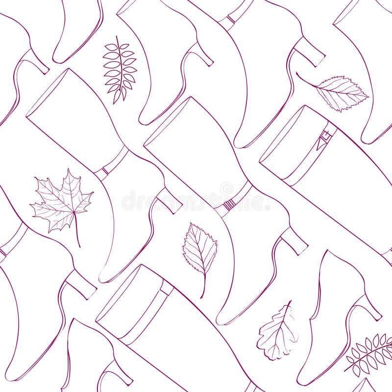 Akcesoria wzór Moda Inicjuje tło i kuje ilustracji