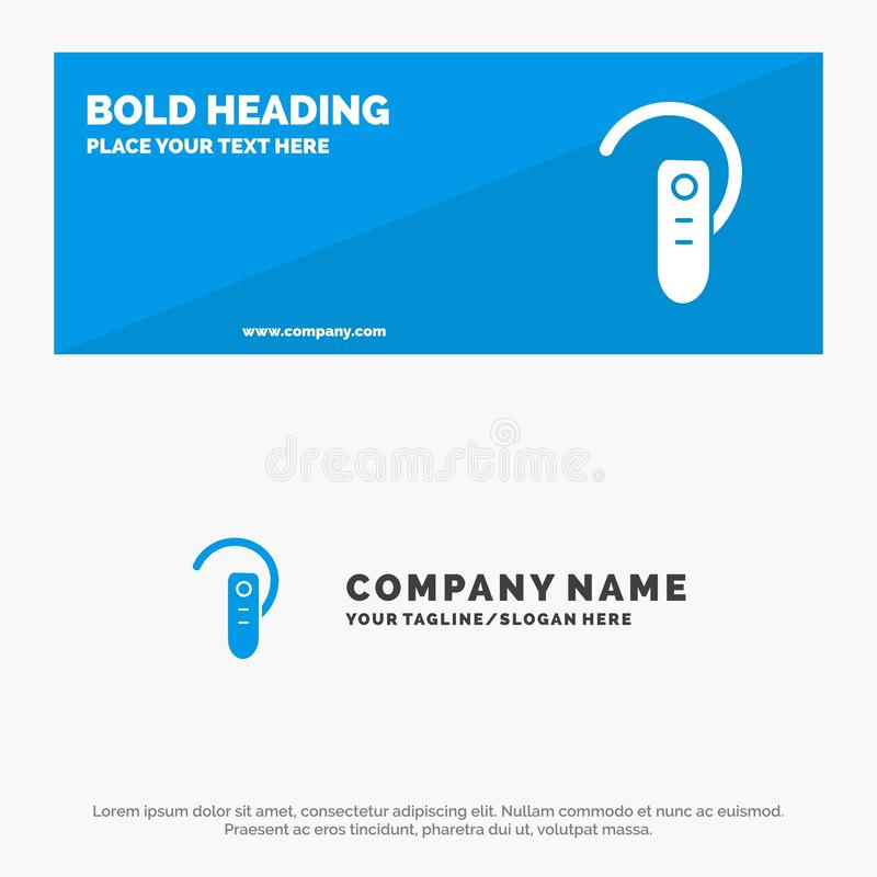 Akcesorium, Bluetooth, ucho, hełmofon, słuchawki ikony strony internetowej stały sztandar i biznesu logo szablon, ilustracji