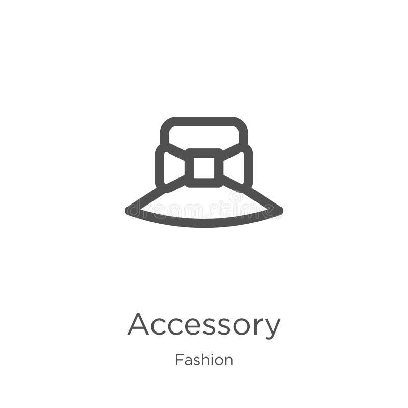 akcesoryjny ikona wektor od mody kolekcji Cienka kreskowa akcesoryjna kontur ikony wektoru ilustracja Kontur, cienieje kreskowego royalty ilustracja