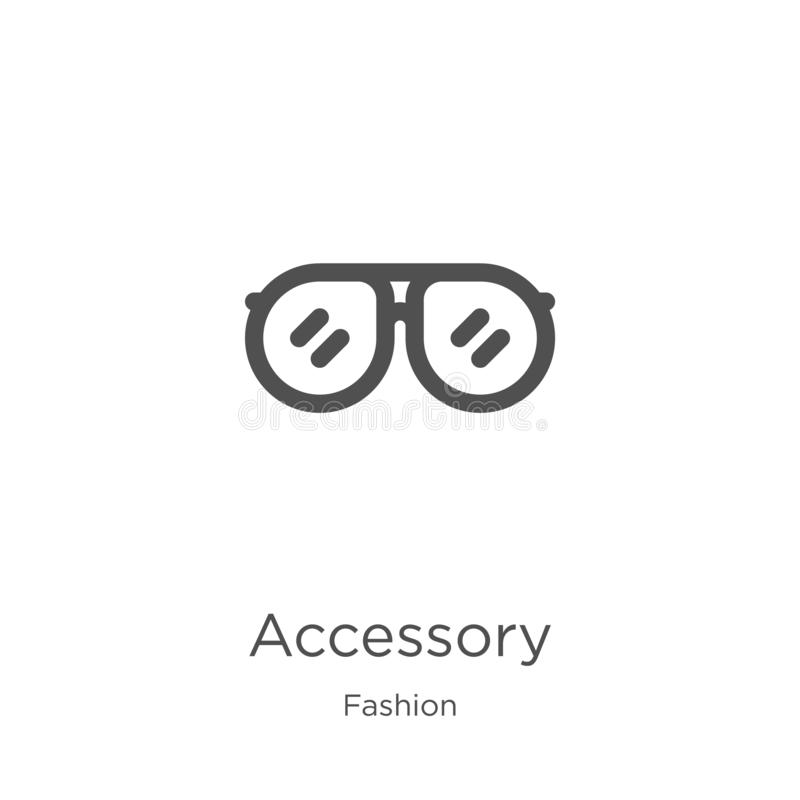 akcesoryjny ikona wektor od mody kolekcji Cienka kreskowa akcesoryjna kontur ikony wektoru ilustracja Kontur, cienieje kreskowego ilustracja wektor