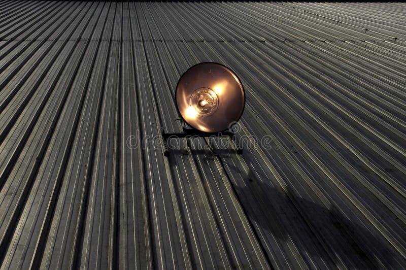 akci fluorowa dachu światło reflektorów obraz royalty free