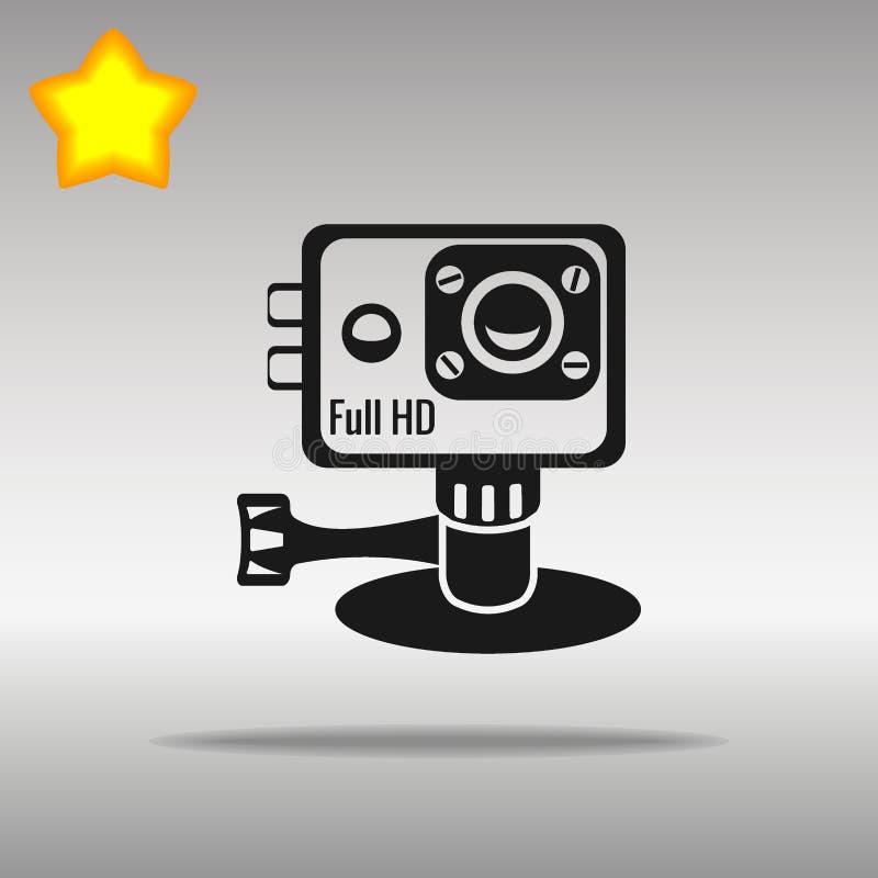 Akci kamery czerni ikony guzika loga symbol royalty ilustracja