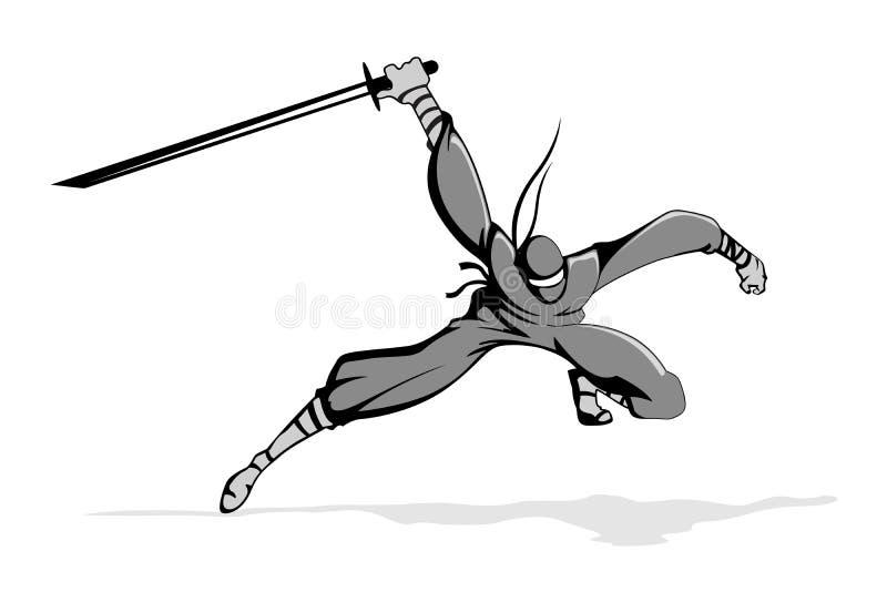akci ninja ilustracja wektor