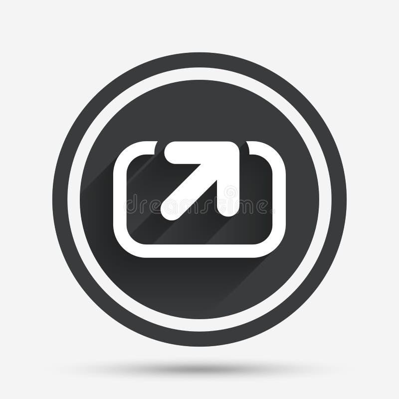 Akci szyldowa ikona Część symbol ilustracji