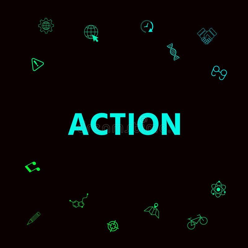 Akcja guzika symbol ilustracja wektor