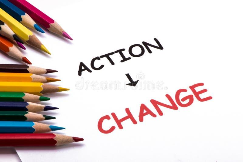 Akcja i zmiana zdjęcie royalty free