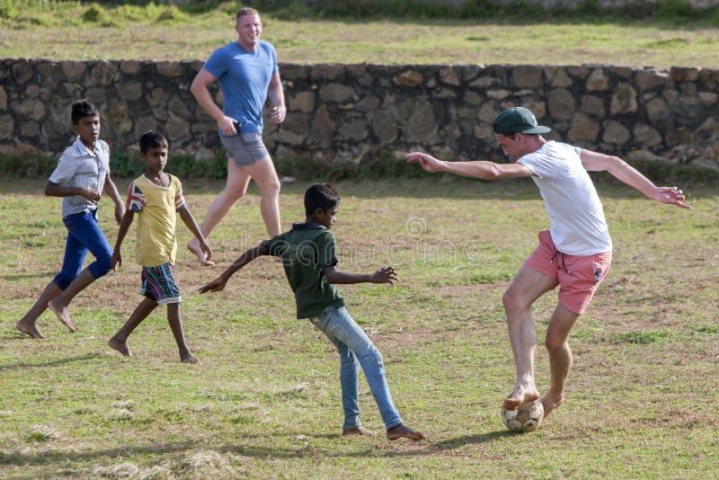 Akcja od Drugi meczu reprezentacji narodowych Australia wersetów Sri Lanka przy Galle w Sri Lanka obraz stock