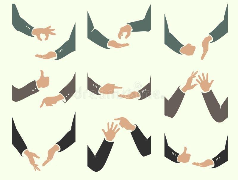 Akcje ręka ruchy ilustracji