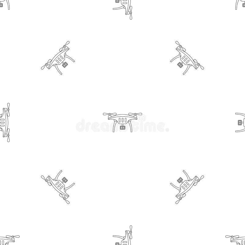 Akcji kamery trutnia wzoru bezszwowy wektor ilustracji