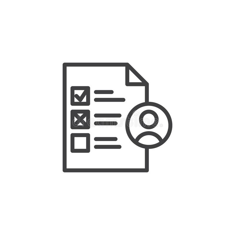 Akcydensowego kandydata linii ikona ilustracja wektor