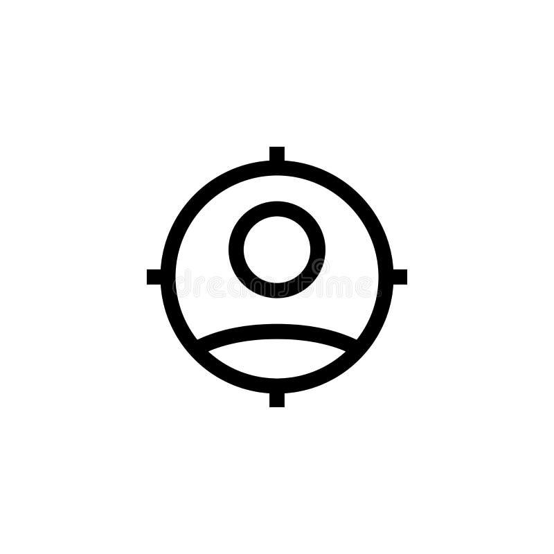 Akcydensowego wakata pracownika ikony przyglądający nowy projekt pracownik z celu celem dla zatrudniać symbol prosty czysty kresk ilustracji