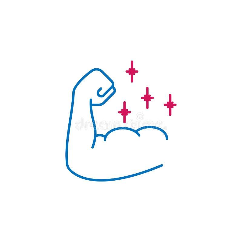 Akcydensowy życiorys, siły 2 barwiąca kreskowa ikona Prosta barwiona element ikona Akcydensowy życiorys, siła konturu symbolu pro ilustracji
