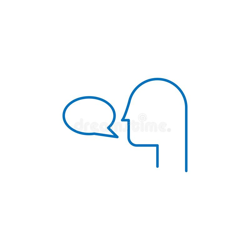 Akcydensowy życiorys, tłumacza 2 barwiąca kreskowa ikona Prosta barwiona element ikona Akcydensowy życiorys, tłumacza konturu sym royalty ilustracja