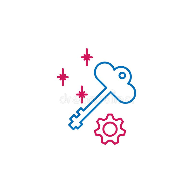 Akcydensowy życiorys, wpisuje 2 barwiącą kreskową ikonę Prosta barwiona element ikona Akcydensowy życiorys, kluczowa konturu symb ilustracja wektor