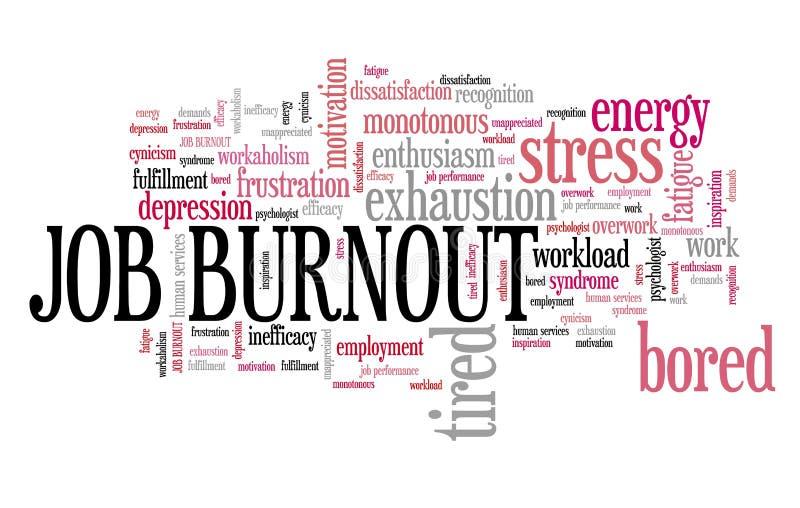 Akcydensowy burnout royalty ilustracja