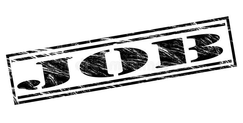 Akcydensowy czerń znaczek ilustracja wektor