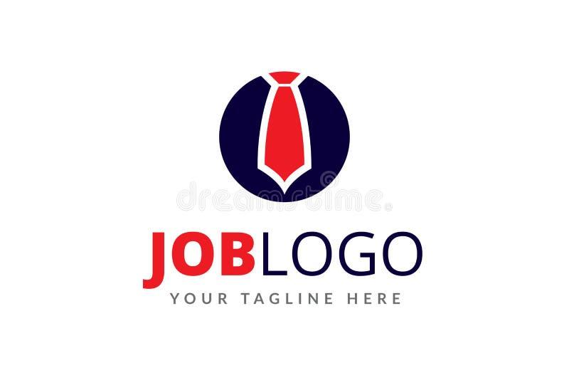 Akcydensowy loga projekta szablon dla kariery obraz royalty free