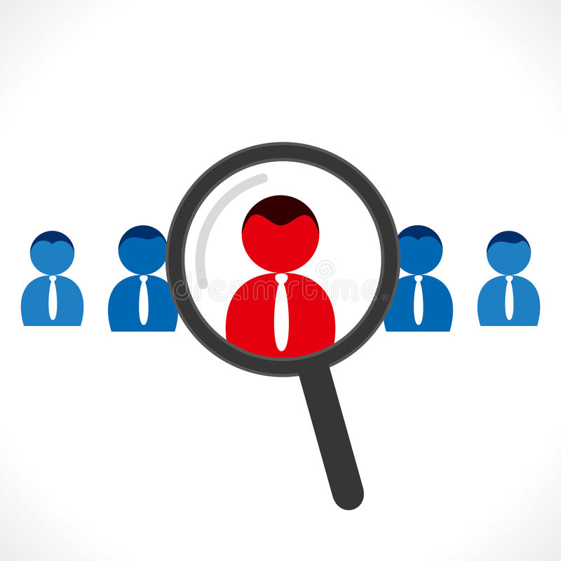 Akcydensowy rekrutacyjny pojęcie ilustracja wektor