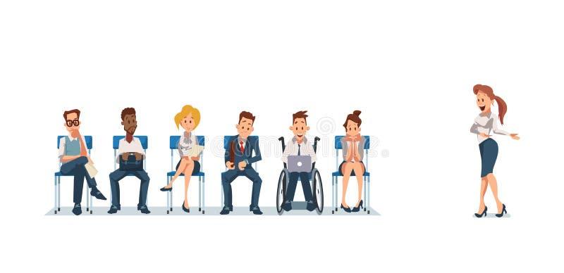 Akcydensowy wywiad i Rekrutować również zwrócić corel ilustracji wektora ilustracji