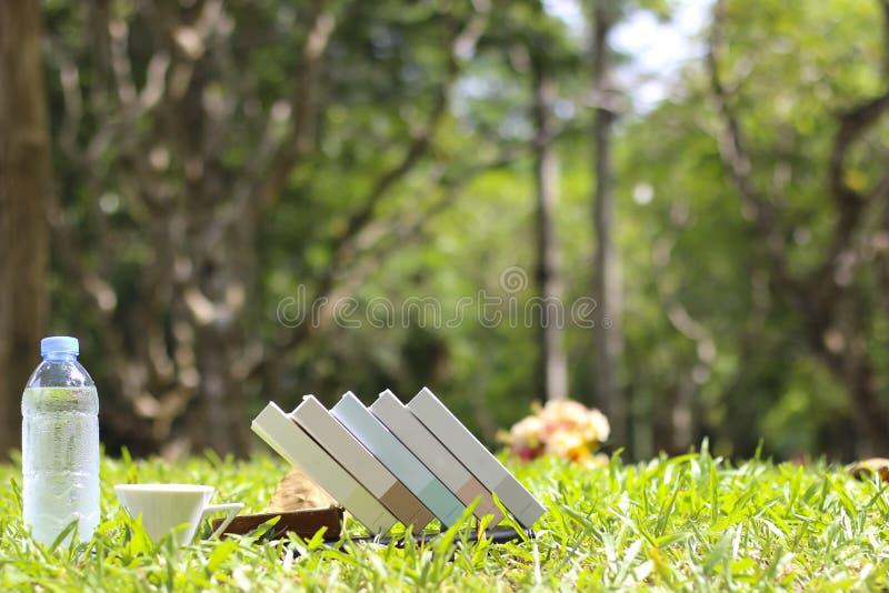 Akcyjna fotografia: Książka na trawie obraz royalty free