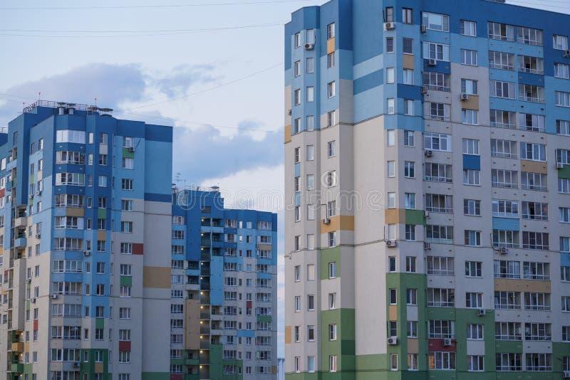 Akcyjna fotografia - mieszkań państwowych mieszkania przy Ulitsa Volzhskaya Naberezhnaya obrazy stock